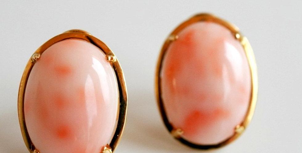 Angel Pink Coral Earrings