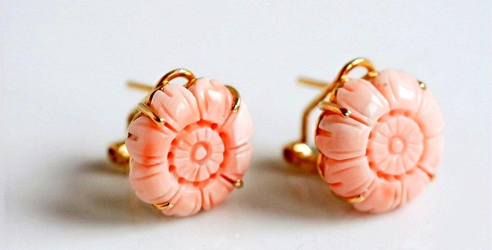 Petals Coral Earrings