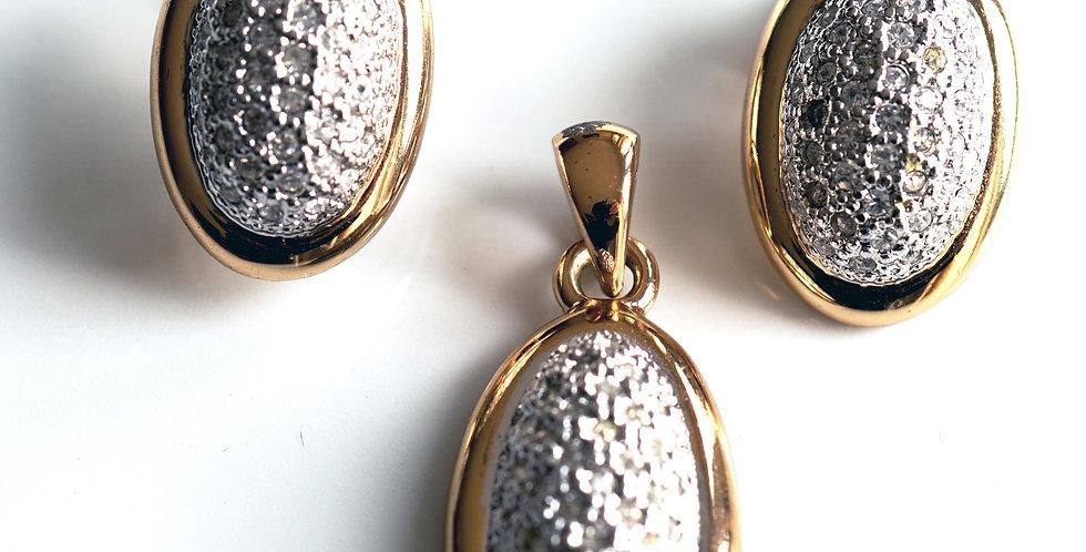 Oval Diamante Set