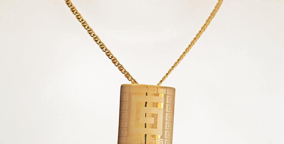 Square Gold Pendant Set