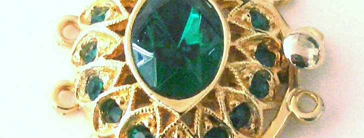 Oval Emerald Clasp