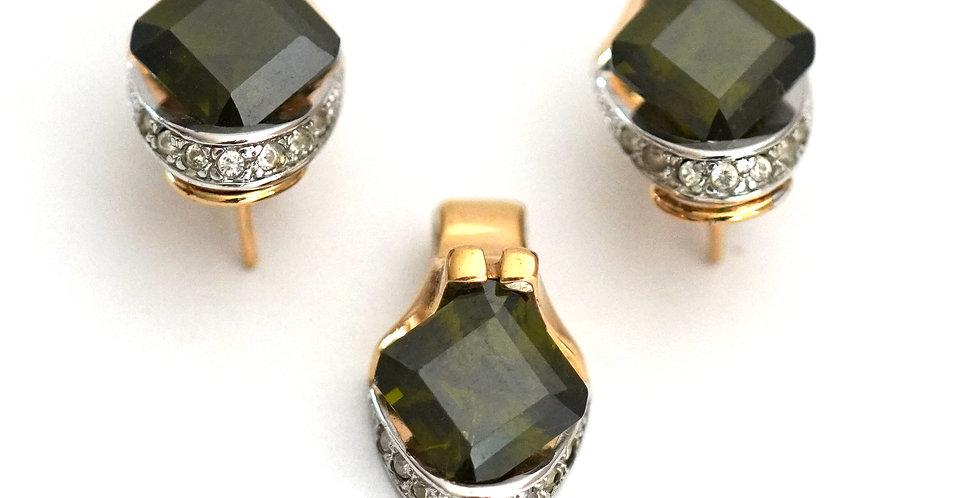 Olivine Swarovski Crystal Set