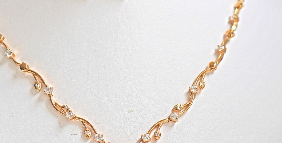 Tear Drop Gold Necklace Set