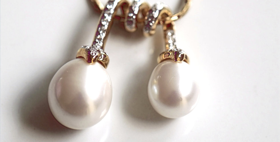 Twirl Pearl  Necklace
