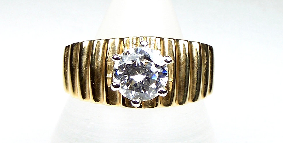 7mm CZ Wide Band Ring x 6