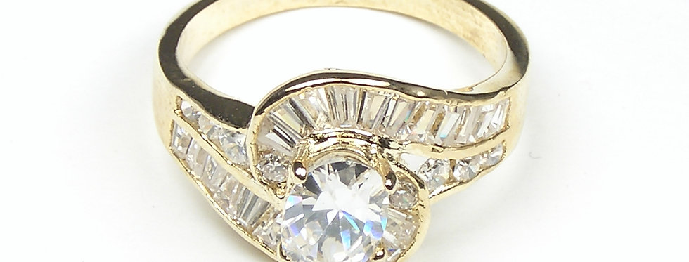 Twirl Baguette Ring