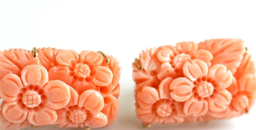 Twin Coral Earrings