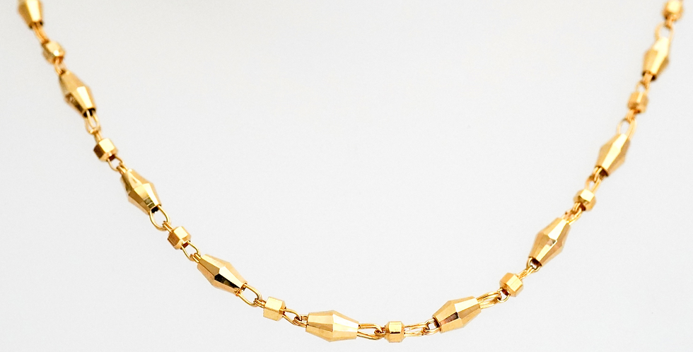 Faceted Lozenge Chain