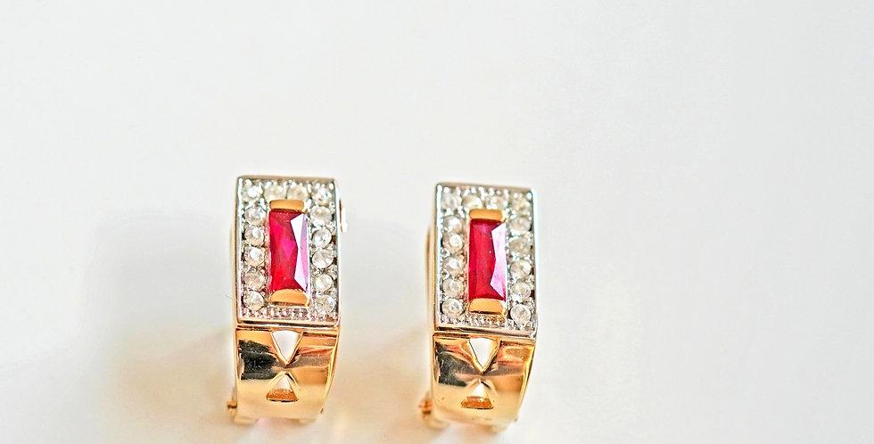 Rectangular Gold Earrings