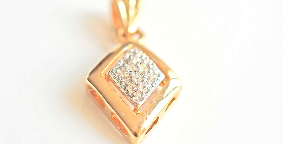 Lozenge Mini Gold Pendant
