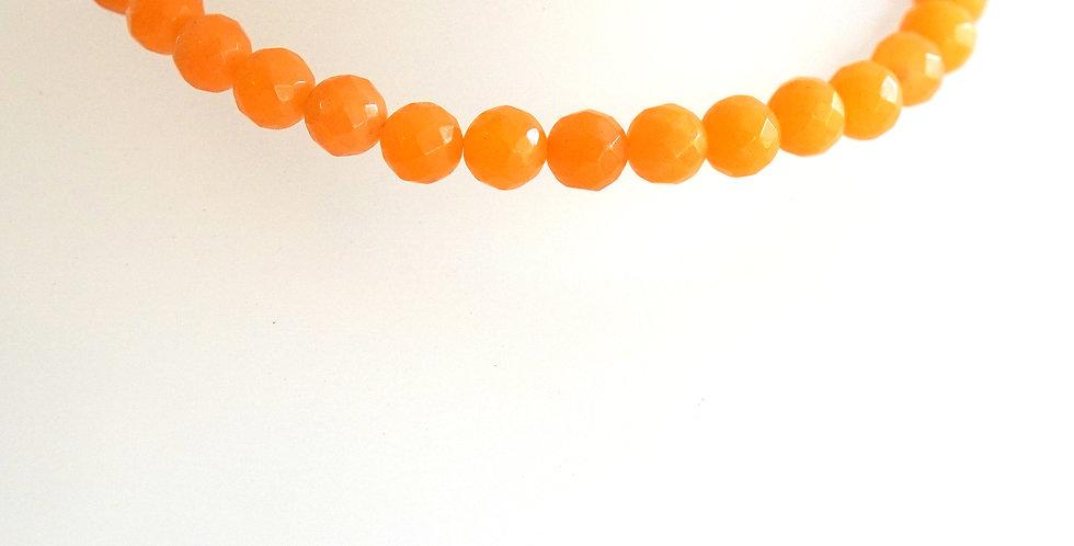 Faceted Orange Agate x 6