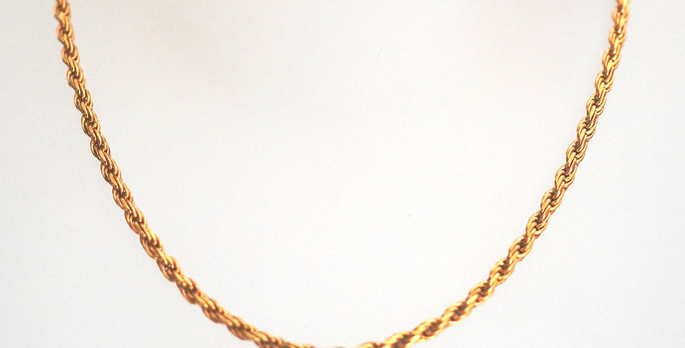 Rolled Gold Rope Chain