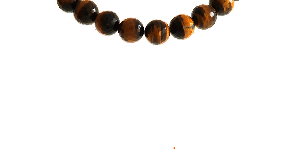 15 mn Faceted Tiger Eye