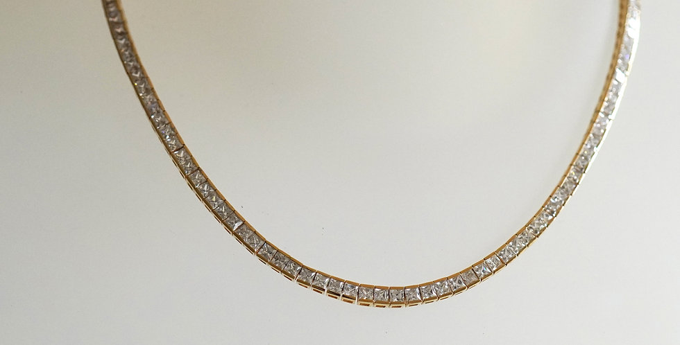 Zircon Chanel Gold Necklace