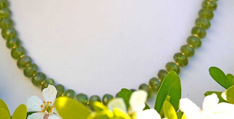 Faceted Peridot Necklace