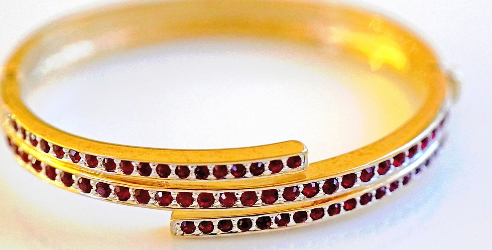 Aspen Gold Ruby Bangle
