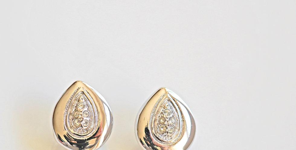 Silver Pear Earrings
