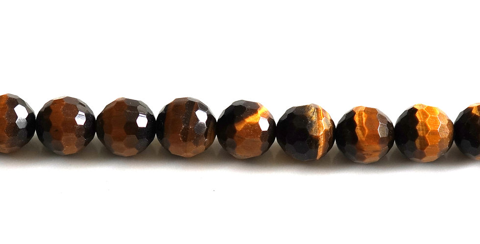 8-9mn faceted tiger eye