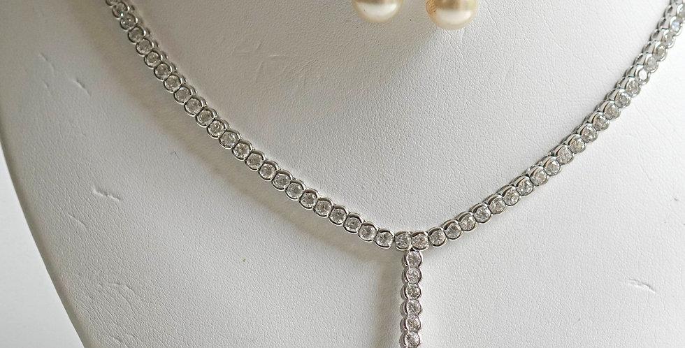 Chanel Zircon Pearl Set