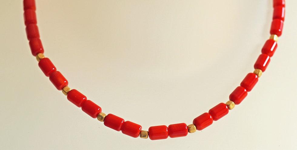 Elegant Coral Necklace