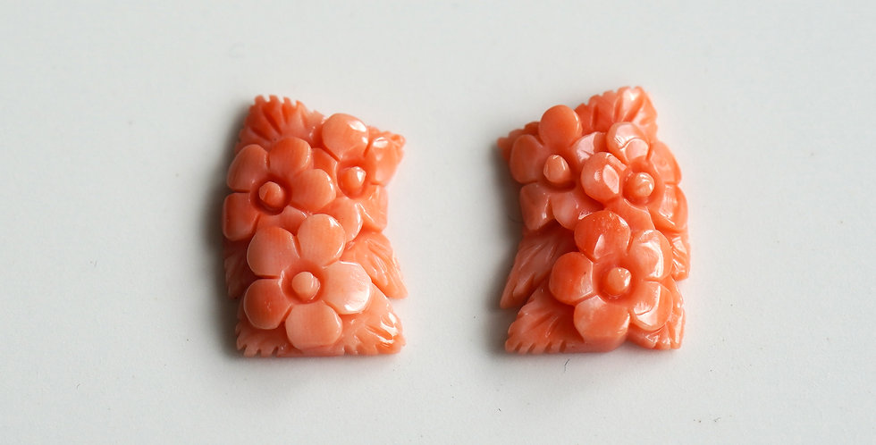 Floral Coral Cabochons