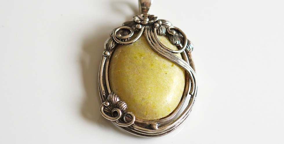 Olive Silver Pendant