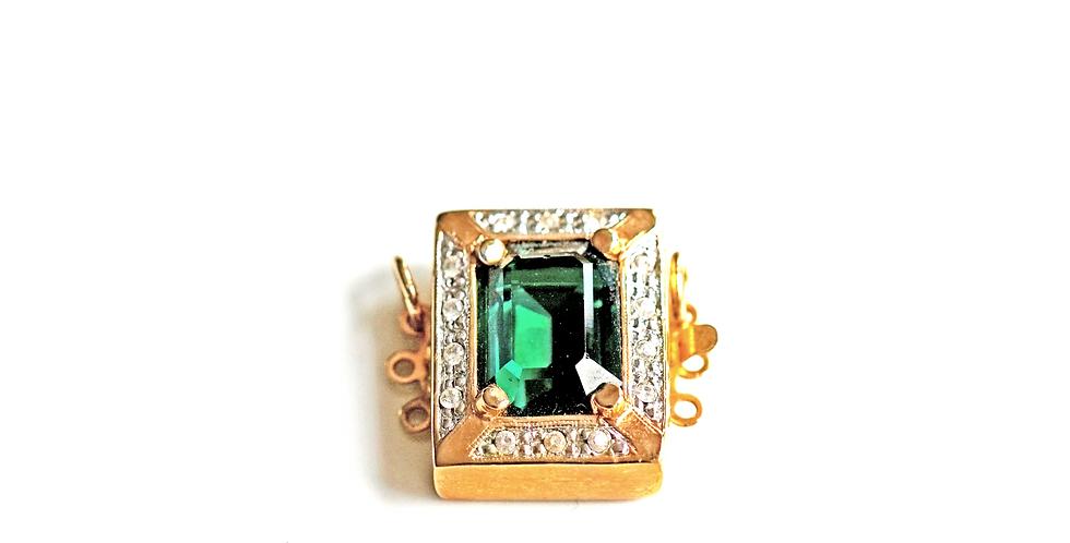 Gold Emerald Clasp