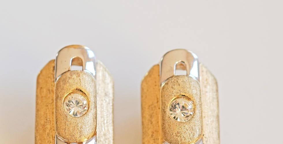 2 Tone Earrings x 10