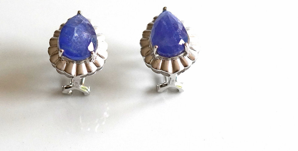Tanzanite White Gold Earrings