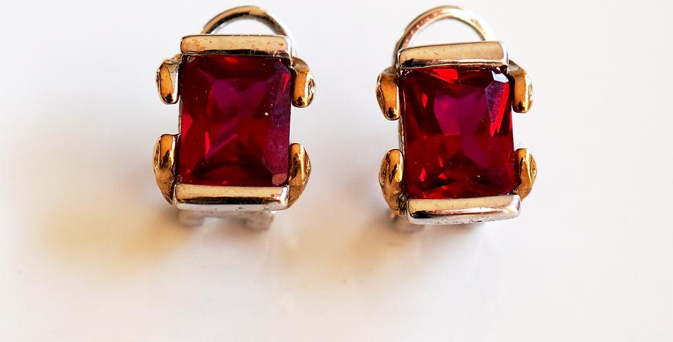 Square Bicolour Earrings