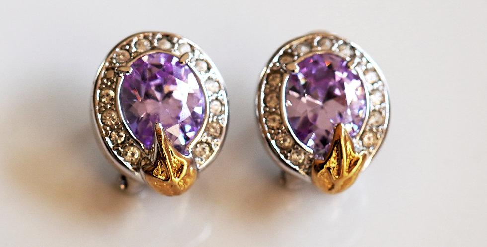 Zircon Cabochon Earrings