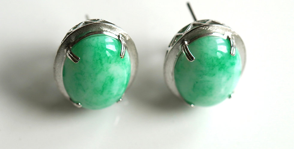 Apple Jadeite Earrings
