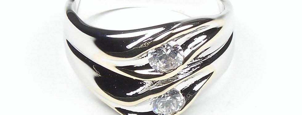 600 Silver Wave Ladies Ring
