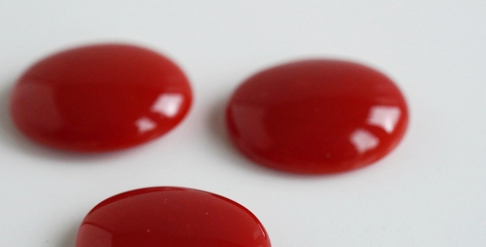 Red Coral Cabochon
