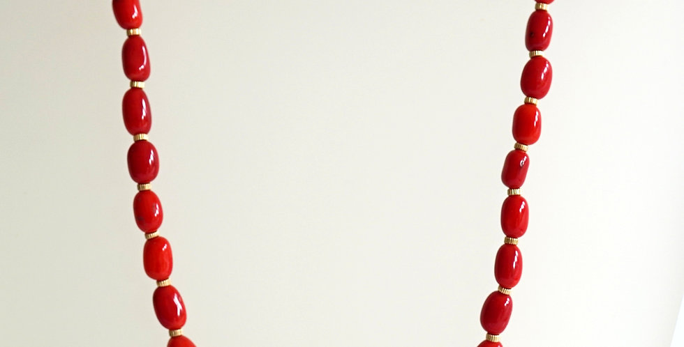 Red Natural Coral Necklace