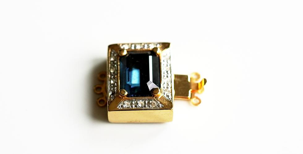 Gold Sapphire Clasp