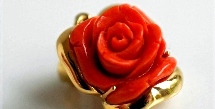 Rose Coral Gold Pendant