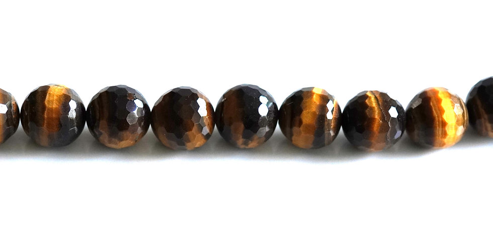 16mn faceted tiger eye
