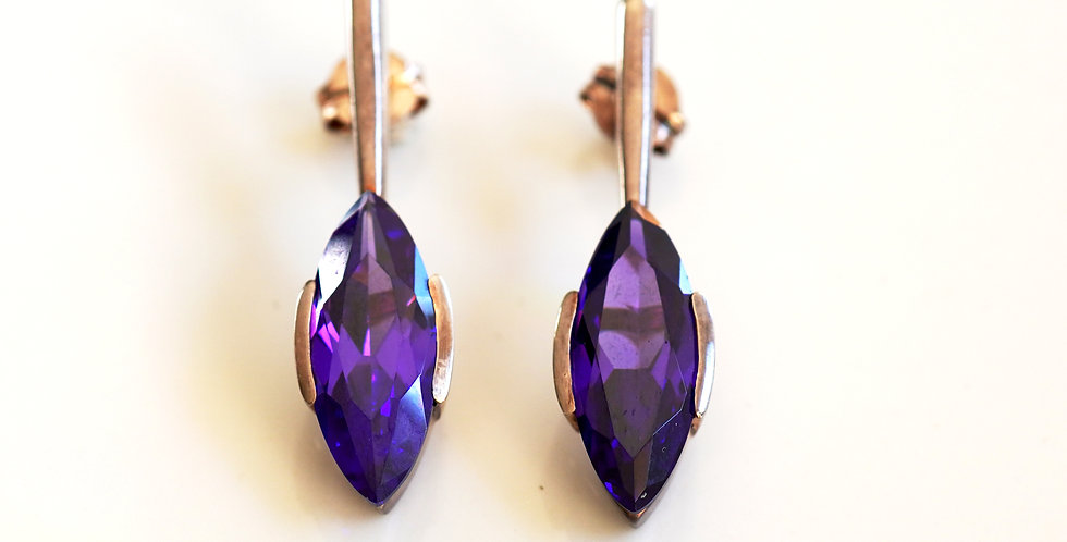 Faceted Amethyst Drop