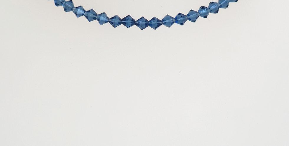 5mm Denim Blue Crystals x 24