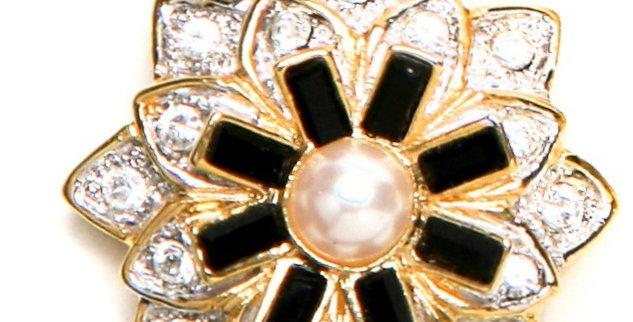 Black Baguette Clasp