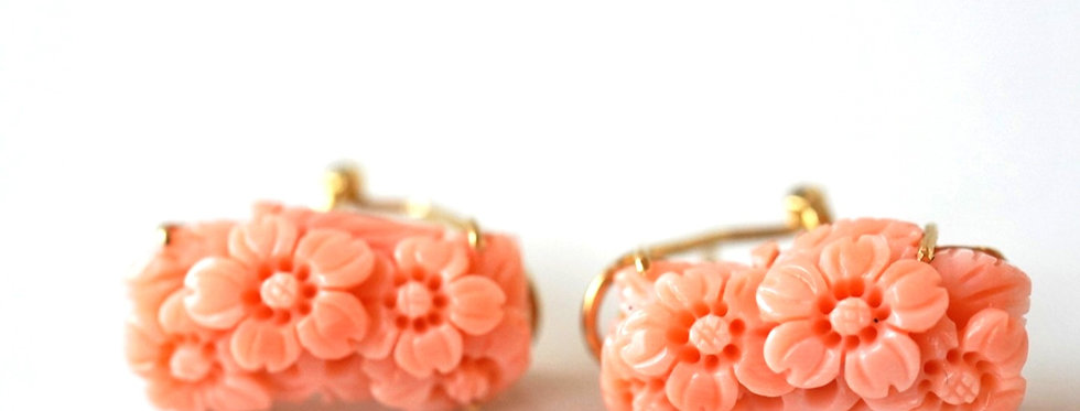 Pretty Natural Coral Earrings