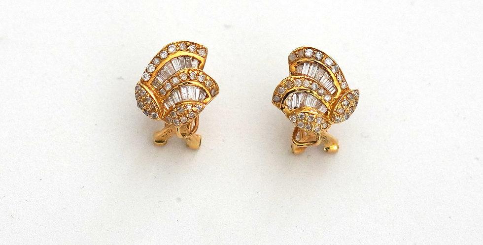 Diamond Baguettes Earrings