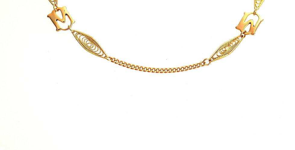 Curb  Filigree Chain x 12