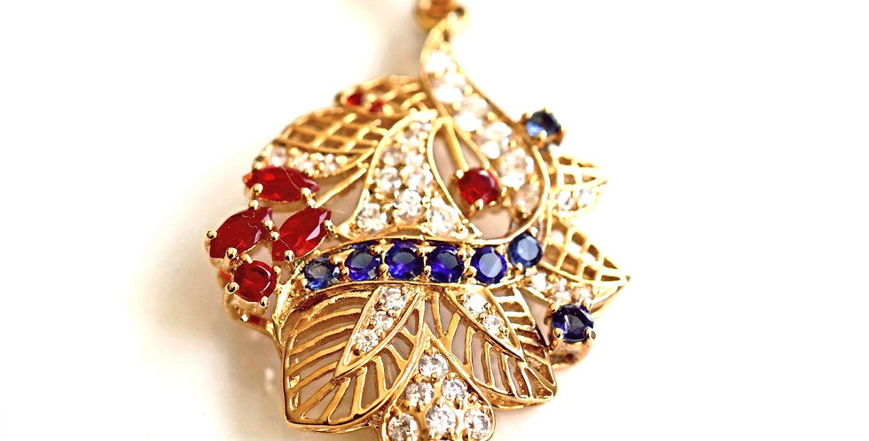 Woven Sapphire Pendant