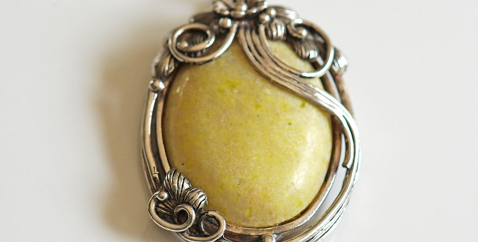 Olive Silver Pendant