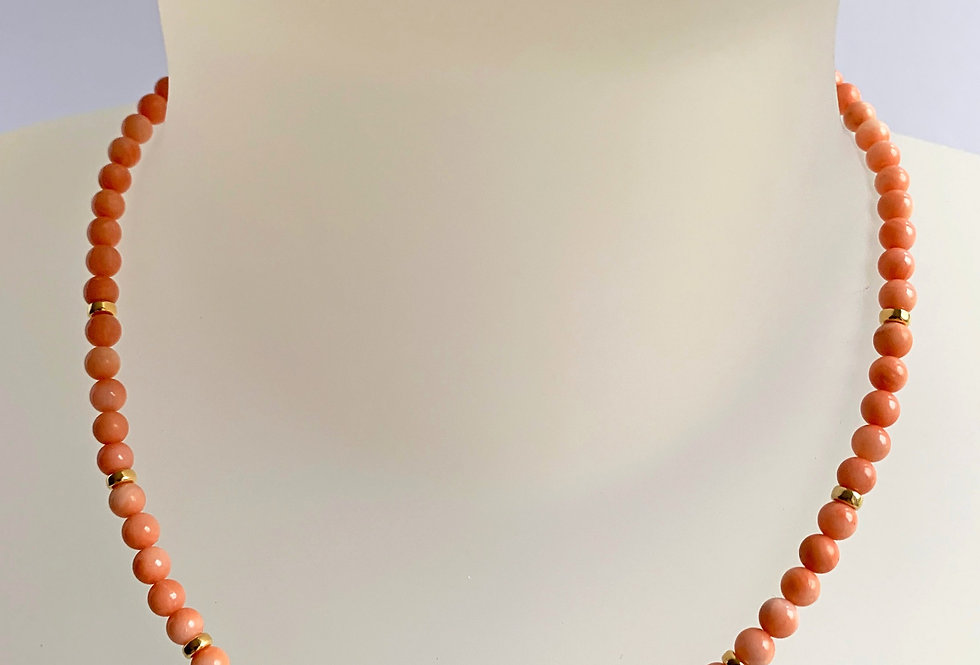 5mn Natural Coral Necklace