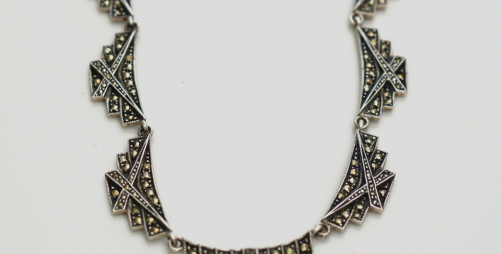 Marcasite Necklace Set