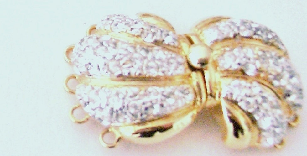 Butterfly Pave Clasp
