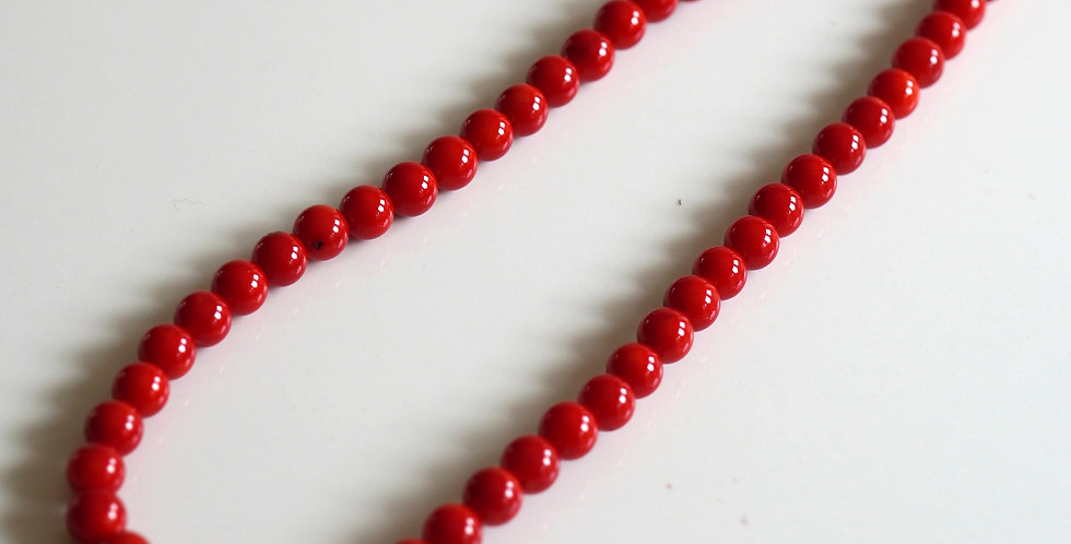 Long Red Coral Necklace